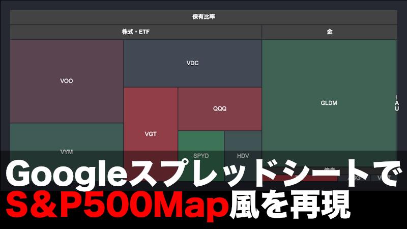GoogleスプレッドシートS&P500Map風を再現