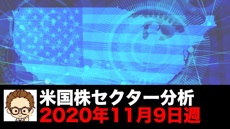 米国セクター分析2020年11月9日週